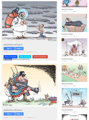 Sri Lanka Newspaper Cartoons Gallery
