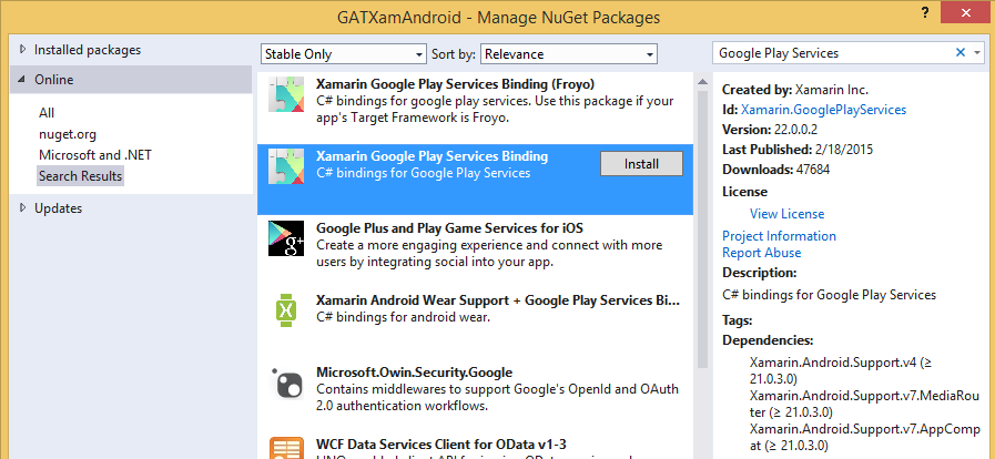 how to install google play services in android studio