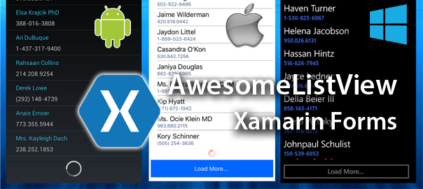xam forms awesomelistview