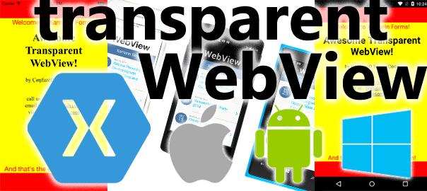 transparent webview
