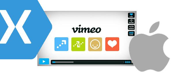 vimeo in xamarin ios app