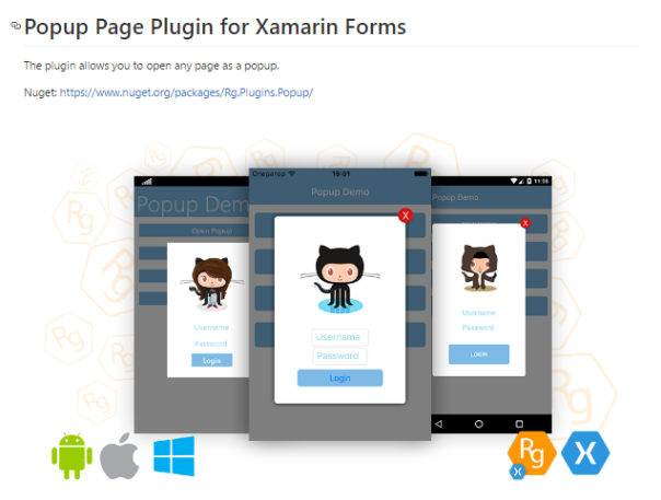So I created a Popup with Transparent background in Xamarin