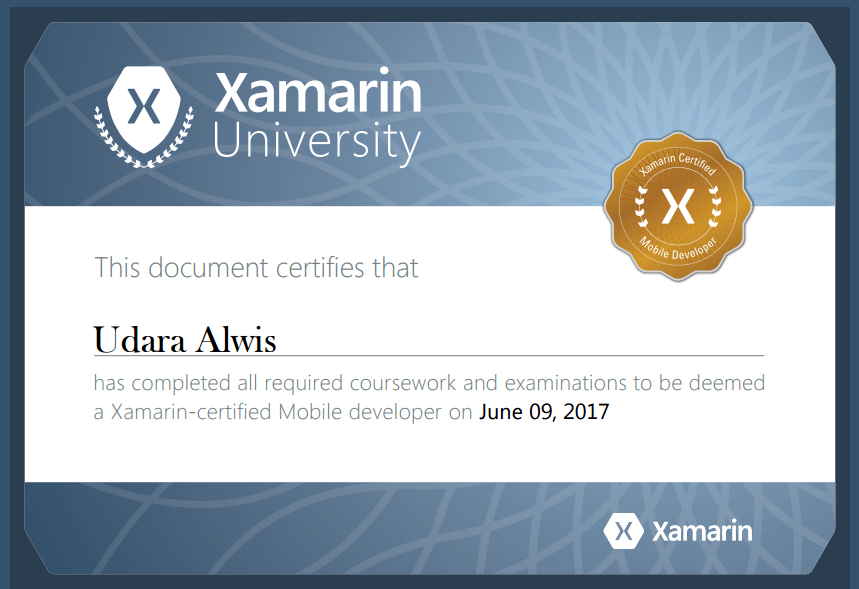 Yaay! I became a Xamarin Certified Mobile Developer! :D | ÇøŋfuzëÐ ...