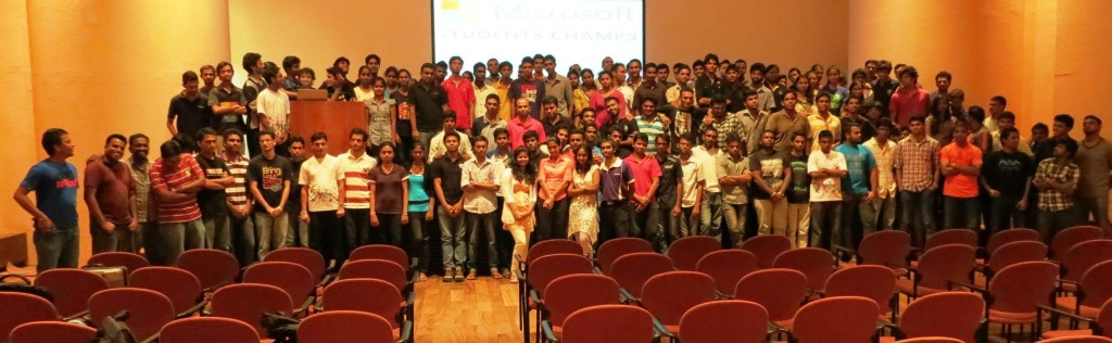 Microsoft Student Champs Sri Lanka Monthly Meeting 2013